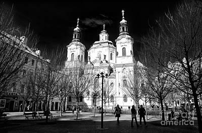 Photograph - St. Nicholas Church Shadows by John Rizzuto