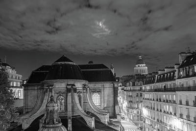 Photograph - St Nicholas Du Chardonnet, Paris, At Night by Jean Gill