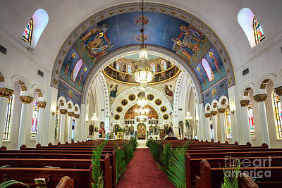 St Nicholas Icon Photograph - St. Nicholas Greek Orthodox Cathedral,tarpon Springs, Florida by Dawna Moore Photography