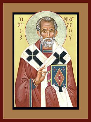 St Nicholas Icon Painting - St. Nicholas by Lynne Beard