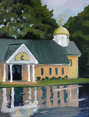 Painting - St. Nicholas Orthodox Church by Laura Wilson
