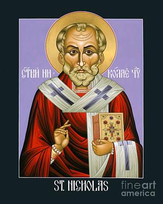 Painting - St. Nicholas, Wonderworker - Lwnww by Lewis Williams OFS