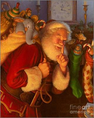 Santa Claus Painting - St. Nick by Blackwater Studio