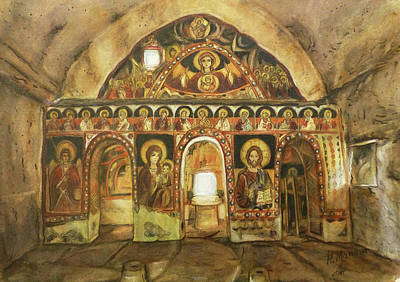 Orthodox Painting - St. Nikola Church, Tzarevec, Bulgaria by Henrieta Maneva