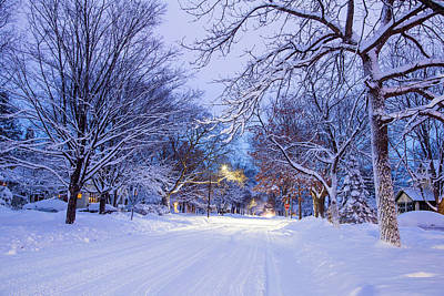 Photograph - St Olaf Ave After Snowstorm  by Joe Miller