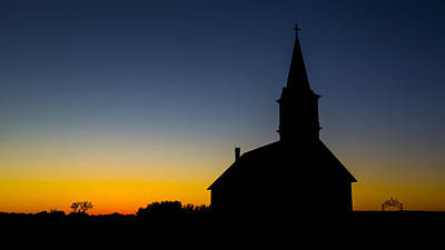 Norwegian Sunset Photograph - St Olaf Silhouette  by Stephen Stookey