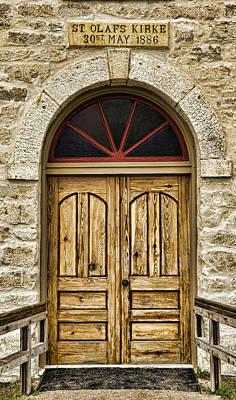 Lutheran Photograph - St Olafs Kirke Door by Stephen Stookey