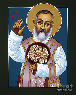 Painting - St Padre Pio Mother Pelican 047 by William Hart McNichols