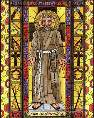 Painting - St. Padre Pio - Bnppp by Brenda Nippert