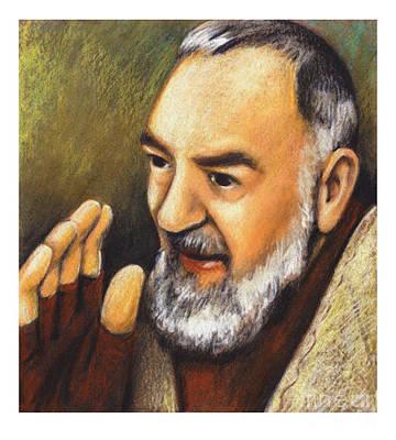 Padre Pio Painting - St. Padre Pio Of Pietrelcina - Jlpio by Julie Lonneman