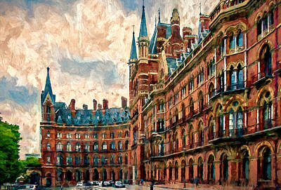 Red Photograph - St Pancras Renaissance London Hotel by John K Woodruff
