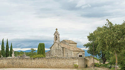 Photograph - St. Pantaleon, France by CR Courson
