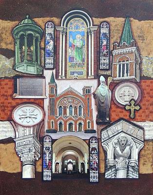 Wall Art - Drawing - St. Patrick Cathedral by Candy Mayer