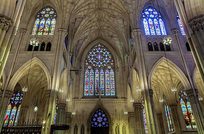Church Fixture Photograph - St. Patrick Cathedral by Jonathan Nguyen
