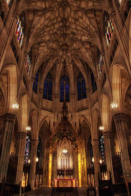 Archdiocese Photograph - St. Patrick's Altar by Jessica Jenney