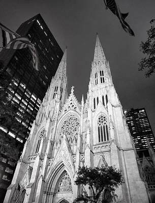 Photograph - St. Patrick's At Night by David Pantuso