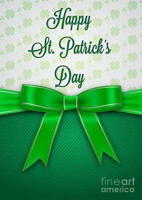 Digital Art - St. Patrick's Bow by JH Designs