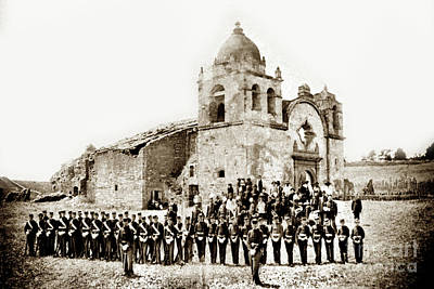 Photograph - St. Patrick's Cadets On The Third Of July, 1882 At The  by California Views Archives Mr Pat Hathaway Archives