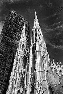 Dramatic Digital Art - St. Patrick's Cathedral by Jessica Jenney