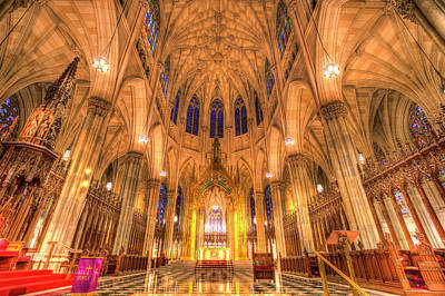 Photograph - St Patrick's Cathedral Manhattan New York by David Pyatt