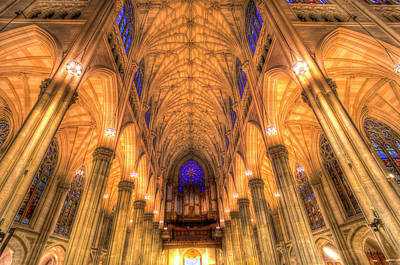 Photograph - St Patrick's Cathedral New York by David Pyatt
