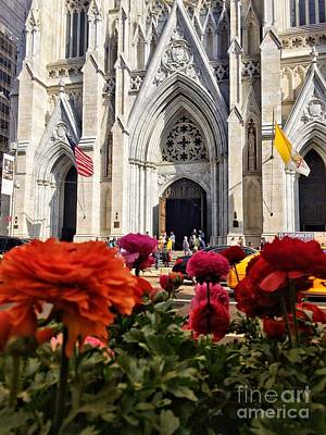 Photograph - St. Patrick's Cathedral New York In Spring by Miriam Danar