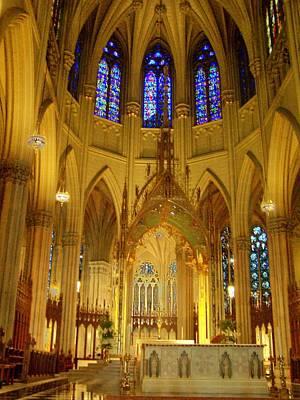 St Patricks Cathedral New York Art Print by Vijay Sharon Govender
