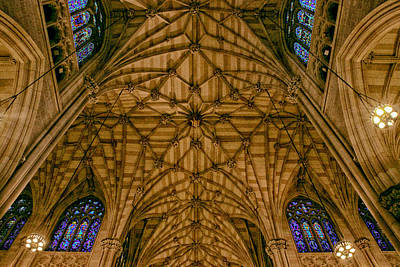 Roman Glass Photograph - St. Patrick's Ceiling by Jessica Jenney