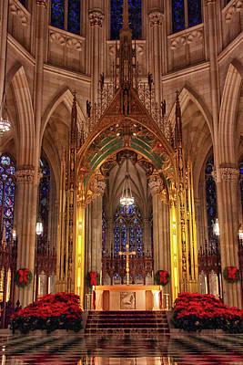 Archdiocese Photograph - St. Patrick's Christmas by Jessica Jenney
