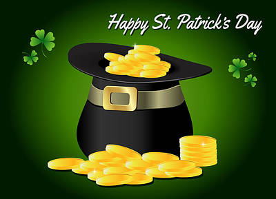 Digital Art - St. Patrick's Day Greeting Card by Serena King