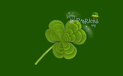 Design Digital Art - St. Patrick's Day by Maye Loeser