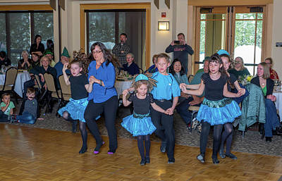 Photograph - St. Patricks Day Party 38 by Martin Gollery