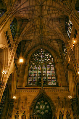 Stained Glass Windows Photograph - St. Patrick's Glory by Jessica Jenney