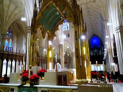 Digital Art - St Patricks Mass by Ed Weidman