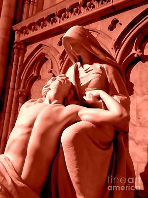 Digital Art - St Patrick's Pieta by Ed Weidman