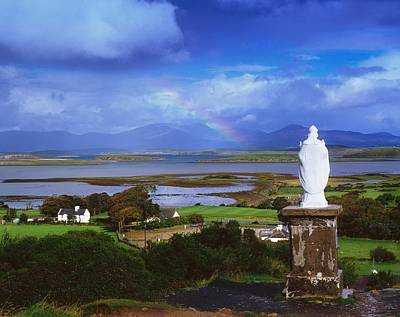 St Patricks Statue, Co Mayo, Ireland Art Print by The Irish Image Collection
