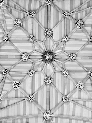 Photograph - St Pats Ceiling B W by Rob Hans
