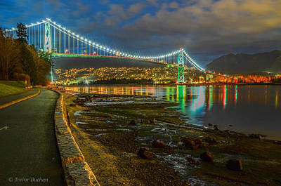 Lions Gate Bridge Photograph - St. Patty's Day Stroll by Trevor Buchan