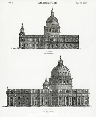 Drawing - St. Paul And St. Peters Cathedral by Unknown