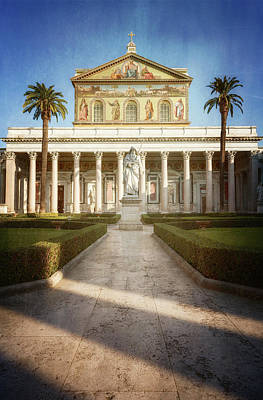 Photograph - St Paul Outside The Walls Rome Italy by Joan Carroll