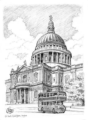 Westminster Abbey Drawing - St Paul 's Cathedral London by Vlado Ondo