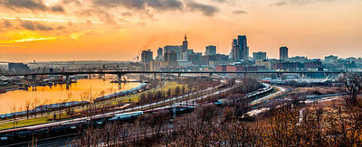 Photograph - St Paul Skyline - Golden Mississippi by Patti Deters