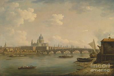 St Paul's And Blackfriars Bridge Art Print by Celestial Images