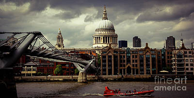 Photograph - St. Paul's And The Millennium Bridge by Marina McLain