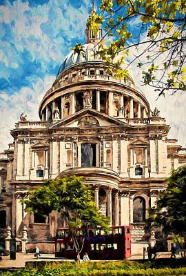 Saint Christopher Digital Art - St Paul's Cathederal by John K Woodruff