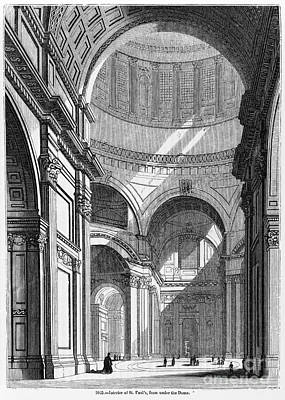 St. Pauls Cathedral, 19th Century Art Print by Middle Temple Library