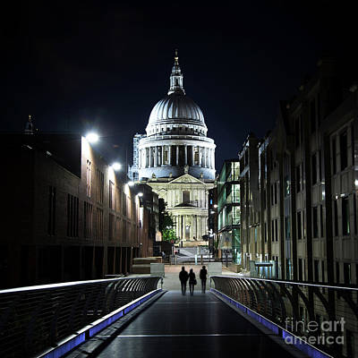 Photograph - St Paul's Cathedral At Night by Jane Rix
