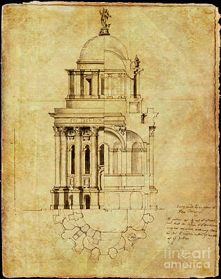 Photograph - St Paul's Cathedral Drawing by Rod Jones