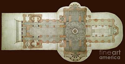 Photograph - St Pauls Cathedral Floorplan by Rod Jones