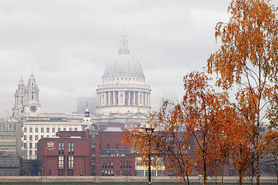 Photograph - St Pauls Cathedral In The Mist by Gill Billington